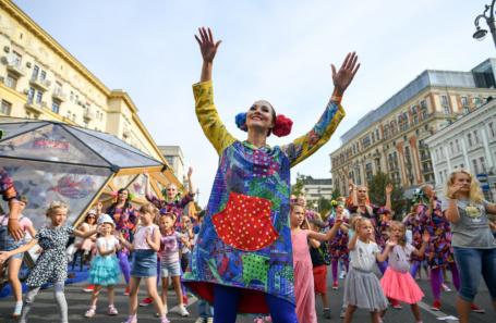 Праздничные мероприятия на Тверской улице.