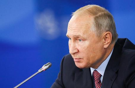 Владимир Путин на заседании Госсовета по вопросам развития Дальнего Востока.