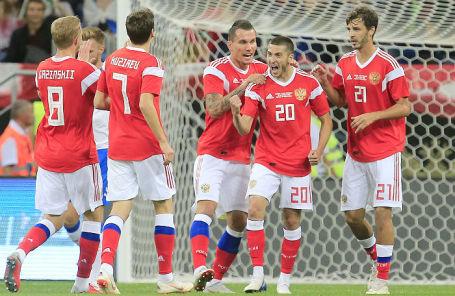 Товарищеский матч по футболу Россия — Чехия в Ростове-на-Дону, 10 сентября 2018 года.