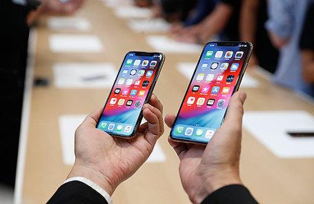 Телефоны  iPhone XS и XS Max.