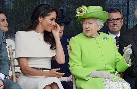 Меган Маркл, герцогиня Суссекская, и королева Великобритании Елизавета II.