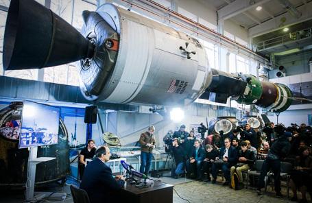 Пресс-конференция, посвященная работе системы аварийного спасения экипажа «Союза МС-10».
