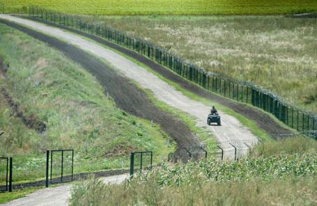 Пограничная полоса между Украиной и Россией.