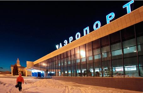 Здание аэропорта в Челябинске.