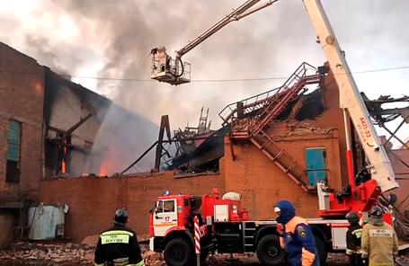 Пожар на заводе «Электроцинк» во Владикавказе.