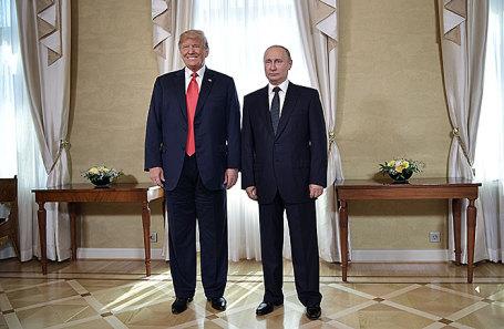 Дональд Трамп и Владимир Путин.