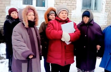 Жители, пострадавшие от землетрясения на Урале.