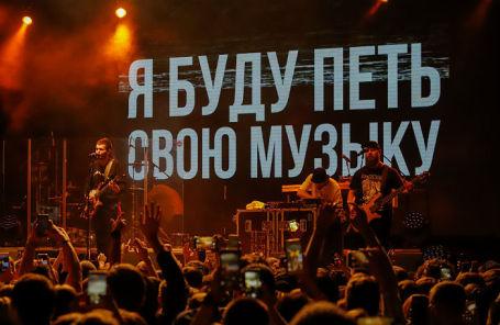 Noize MC на концерте в поддержку рэпера Хаски.