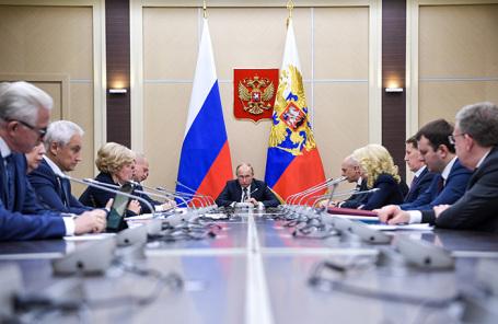 Совещание с членами правительства России.