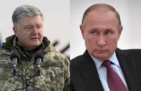 Петр Порошенко. Владимир Путин.