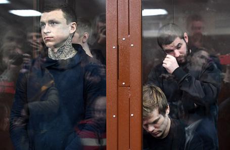 Павел Мамаев, Александр Кокорин, Александр Протасовицкий (слева направо).