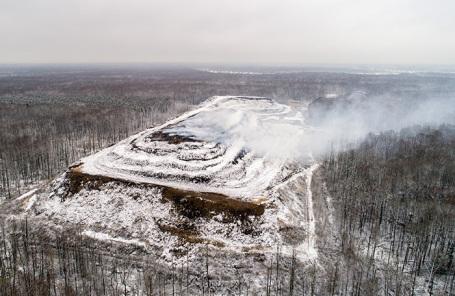 Один из полигонов бытовых отходов в Московской области.
