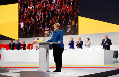 Ангела Меркель на съезде ХДС.