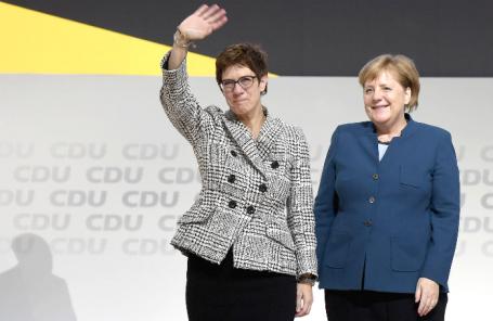 Аннегрет Крамп-Карренбауэр и Ангела Меркель.