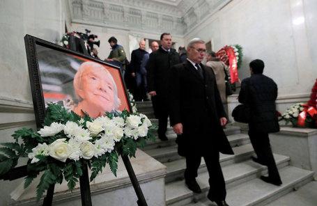 Церемония прощания с Людмилой Алексеевой в Москве.