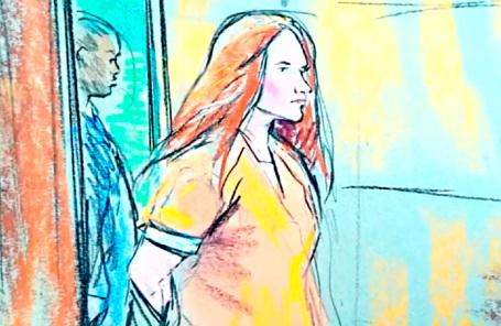 Мария Бутина на заседании Вашингтонского суда.