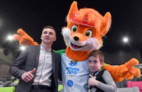 На презентации талисмана вторых Европейских игр в Минске.