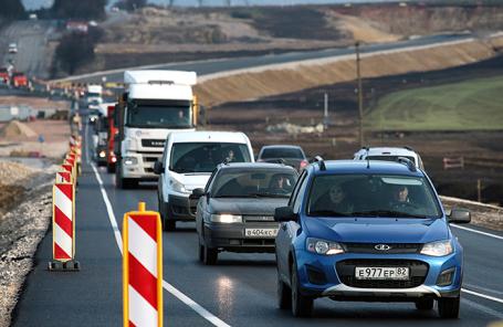 Открытие движения на участке трассы «Таврида» в Крыму.