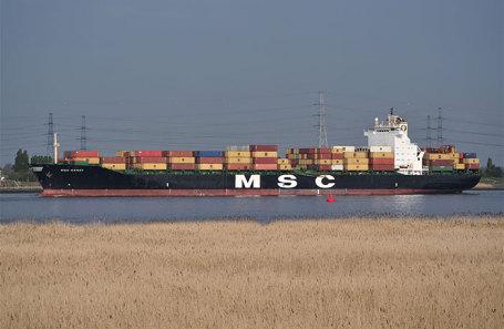 Судно MSC Mandy, на котором взяли в плен российских моряков.
