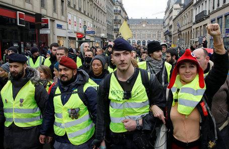 Акция протеста в Париже, 5 января 2019 года.