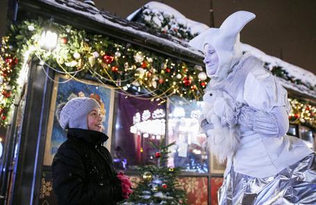 На рождественской ярмарке в Москве.
