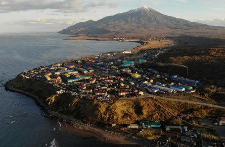 Остров Итуруп в Сахалинской области.