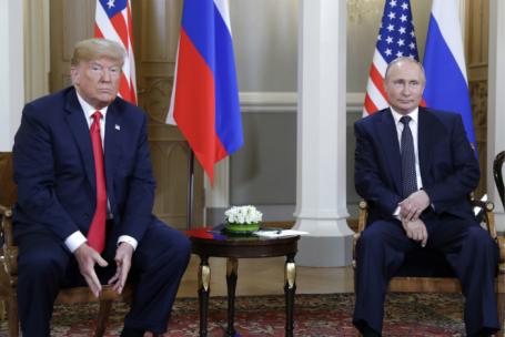 Встреча президента США Дональда Трампа и президента РФ Владимира Путина в Хельсинки.