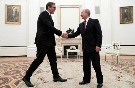 Александр Вучич и Владимир Путин.