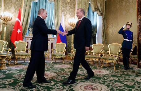 Владимир Путин и Реджеп Тайип Эрдоган. Архив.