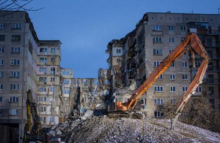 Дом №164 на улице Карла Маркса в Магнитогорске, где произошло обрушение.