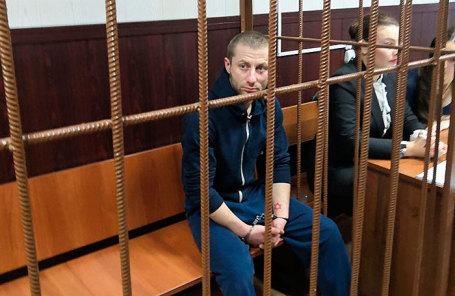 Денис Чуприков в Таганском суде.