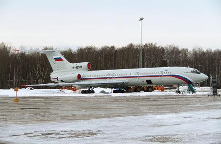 Самолет Ту-154 Минобороны РФ, потерпевший крушение у побережья Сочи.