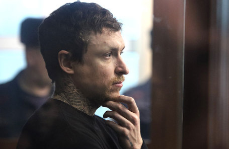 Футболист Павел Мамаев на рассмотрении ходатайства следствия о продлении ареста в Тверском суде, 6 февраля 2019 года.