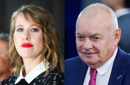 Ксения Собчак и Дмитрий Киселев.