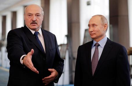 Александр Лукашенко и Владимир Путин.