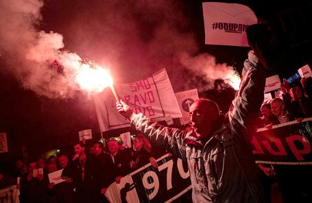 Акция протеста в Подгорице.