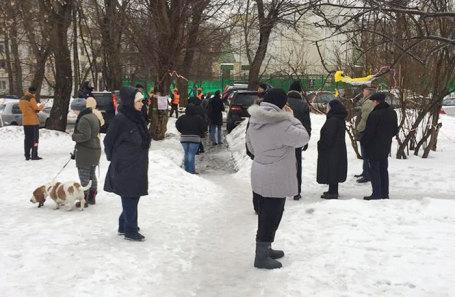 Митинг в Останскинском районе, 5 марта 2019 года.