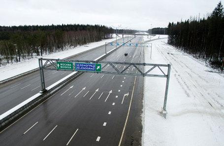 Участок платной дороги М-11 Москва — Санкт-Петербург.