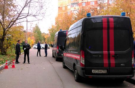 Следственная группа на месте убийства Евгении Шишкиной. Октябрь 2018 года.