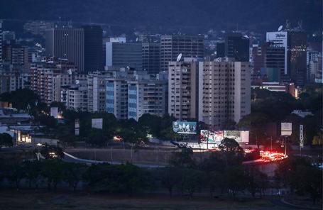 Вид на обесточенный район Каракаса.