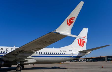 Boeing 737 MAX 8 авиакомпании Air China в аэропорту в Пекине.