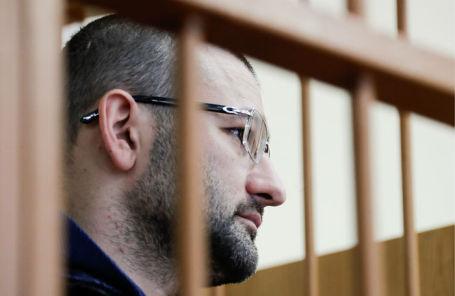 Бывший первый заместитель главы «Росгеологии» Руслан Горринг во время избрания меры пресечения в Домодедовском городском суде.