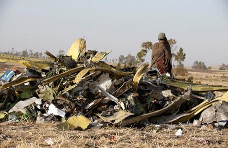 Последствия крушения  Boeing 737 MAX 8 в Эфиопии.