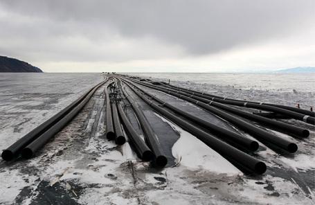 Строительство завода компании «Аквасиб» по розливу байкальской воды в Иркутской области.