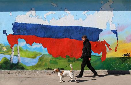 Граффити, посвященное пятой годовщине присоединения Крыма к России.