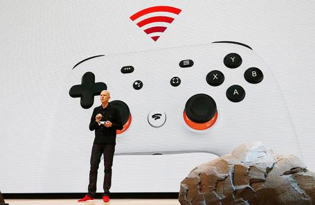Вице-президент Google Фил Харрисон на презентации игровой платформы Stadia в Сан-Франциско.