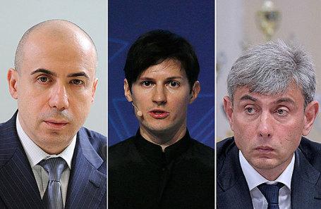 Юрий Мильнер, Павел Дуров и Сергей Галицкий (слева направо).