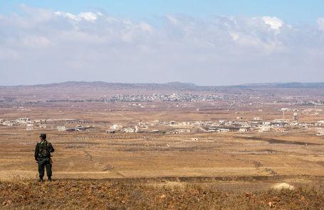 Линия разграничения Сирии и Израиля на Голанских высотах.