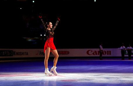 Алина Загитова, завоевавшая золотую медаль в женском одиночном катании на чемпионате мира по фигурному катанию в Сайтаме, Япония.