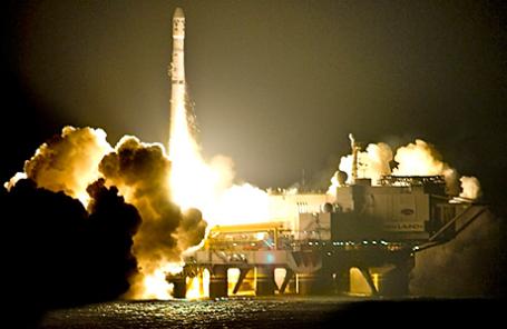 Запуск ракеты с космодрома «Морской старт».